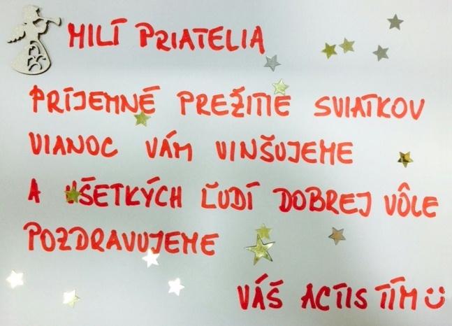 Želáme vám krásne vianočné sviatky