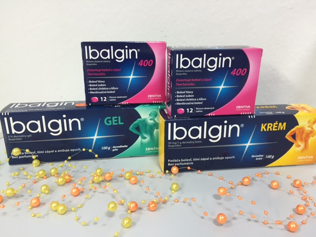 Ibalgin krém a Ibalgin gel  – ku každému baleniu teraz 12 tabliet Ibalgin 400 zdarma!