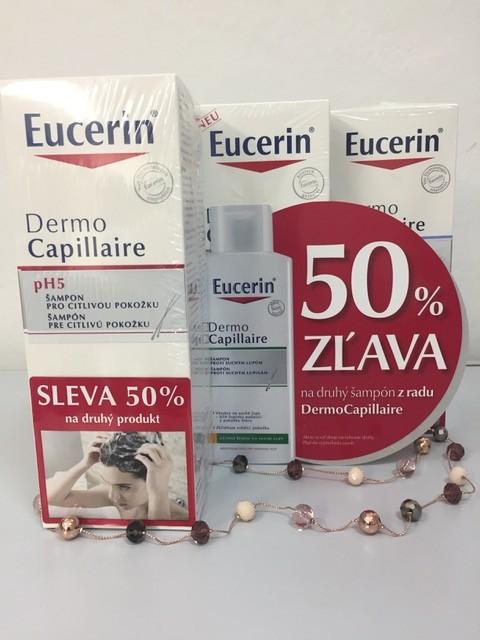 Eucerin 50% zľava na druhý šampón