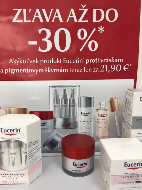 Eucerin zľava mínus 30%
