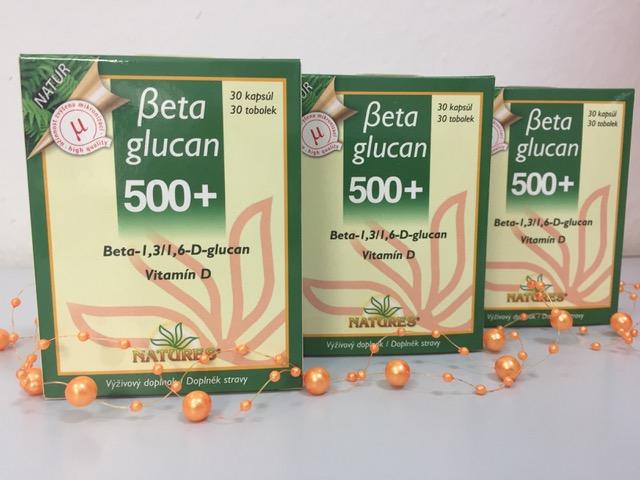 NATUR Betaglucan 500+ iba 27,50 €