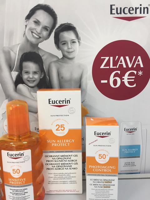 Eucerin SUN zľava -6 €