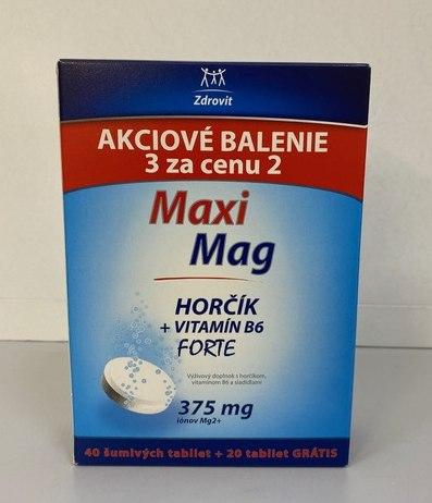 Zdrovit MaxiMag Forte akciové balenie a akciová cena 6,50 €