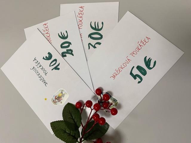 Vianočné darčekové poukážky
