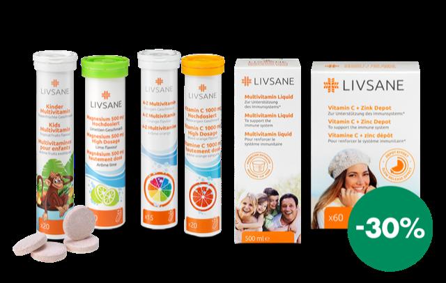30% zľava vitamíny LIVSANE