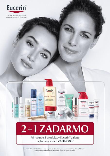 Eucerin 2 + 1 ZADARMO